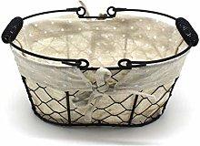 CVHOMEDECO. Oval Chicken Wire Fruit Basket Rustic