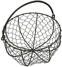 CVHOMEDECO. Round Metal Wire Egg Basket Wire