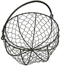 CVHOMEDECO. Round Metal Wire Egg Basket Wire