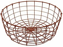 CVHOMEDECO. Round Metal Wire Fruit Basket Wire Egg