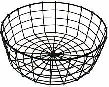 CVHOMEDECO. Round Metal Wire Fruit Basket Wire Egg