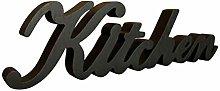 CVHOMEDECO. Rustic Matt Black Wooden Words Sign