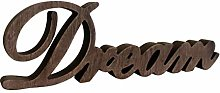 CVHOMEDECO. Rustic Vintage Distressed Wooden Words