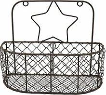 CVHOMEDECO. Wall Mounted Chicken Wire Storage