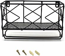 CVHOMEDECO. Wall Mounted Wire Storage Rack with