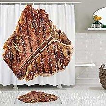 CVSANALA 2 Piece Shower Curtain Set with Non-Slip
