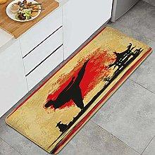 CVSANALA Anti-Fatigue Kitchen Floor Mat,BJJ