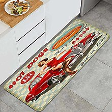CVSANALA Anti-Fatigue Kitchen Floor Mat,Diner Hot