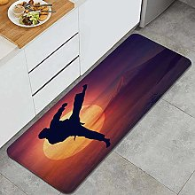 CVSANALA Anti-Fatigue Kitchen Floor Mat,Kung Fu