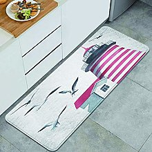 CVSANALA Anti-Fatigue Kitchen Floor Mat,Lighthouse