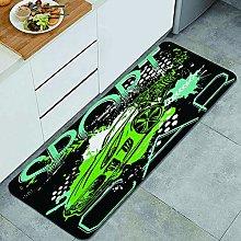 CVSANALA Anti-Fatigue Kitchen Floor Mat,Sport car