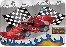 CVSANALA Decorative Bathroom Floor Rug,Cars Race
