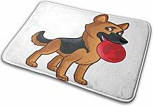 CVSANALA Non-Slip Soft Bath Mat,Friendly Dog Of