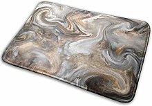 CVSANALA Non-Slip Soft Bath Mat,Marble Retro Style