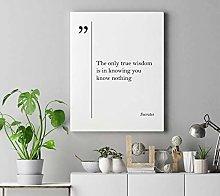 cwb2jcwb2jcwb2j Canvas Print Socrates Quote