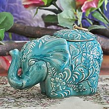CWENROU Statue Decoration - Retro Ceramic Elephant