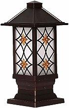 CWJ European Outdoor Door Pillar Light - Exterior