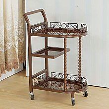 CWJ Service Cart 3 Tier Iron Utility Trolley