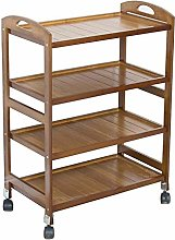 CWJ Shelf Cart,Wooden Kitchen Rack Simple Fashion