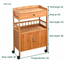 CWJ Storage Trolley Cart Kitchen Trolley with