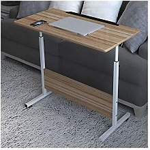 CWJ Table Above Bed Adjustable Lap Table Portable