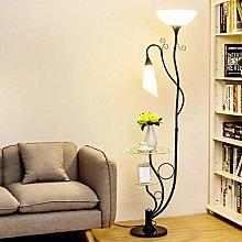 CWJ with Glass Shelves, Modern Floor Lamp for