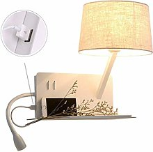 CWJ with Switch Modern USB Port Wall Lamps