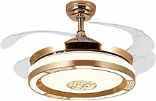 CXQ Fan Lamp Living Room Invisible Wall Control