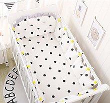 Cxssxling 5 Pcs Baby Bed Bumper Set Cotton Nursery