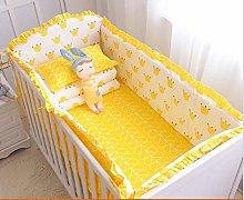 Cxssxling 9 Pcs Baby Bed Bumper Set Cotton Nursery