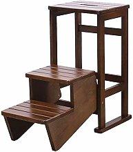 CXY-JOEL Wooden Convertible Ladder Step Stool