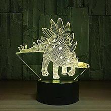 CXZZV 3D Night Light Stegosaurus Shape Led Optical
