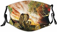 Cycling Dust Mask Animal Elephant Lion Leopard