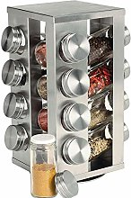 CYFDM Stainless Steel Revolving Spice Rack, with