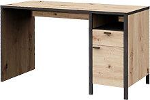 Cygnus Wooden Computer Desk In Artisan Oak