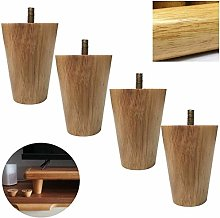 Cylficl. Set Of 4 Solid Wood Furniture Legs,Wooden