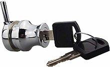 Cylinder Lock Door Glass Cabinet Zinc Alloy Lock