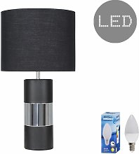 Cylinder Touch Table Lamp with Small Drum Lamp