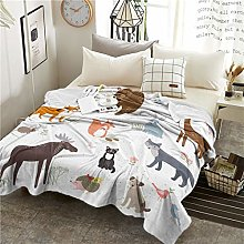 CYPZ Cartoon Blanket Give Children's Room
