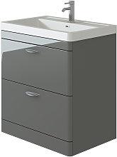 Cyrenne Grey Floor Standing Bathroom Vanity Basin