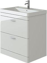 Cyrenne White Floor Standing Bathroom Vanity Basin