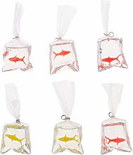 D DOLITY 5 Pcs Resin clearly Swimming Fish DIY
