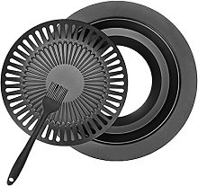 D DOLITY Metal BBQ Grill Plate Non-Stick Grill