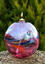 D&J Glassware Friendship Oil Lamp (Amethyst)