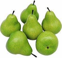 D-Seven 6pcs Fake Pear Artificial Fruit Faux Pears