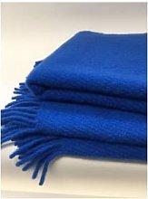 D&T Design - Wool Blanket Plain Blue FB 1325 -