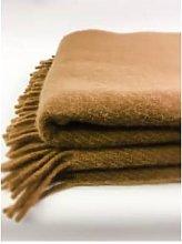 D&T Design - Wool Blanket plain Camel FB 38 - wool