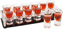 D&Z 12 Set Shot Glass with Acrylic Cup Holder for