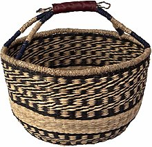D40xH22 cm Large Seagrass Wicker Bolga Basket