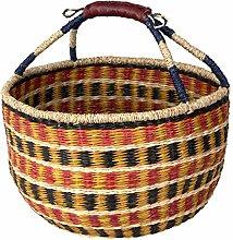 D40xH22 cm Large Seagrass Wicker Bolga Basket